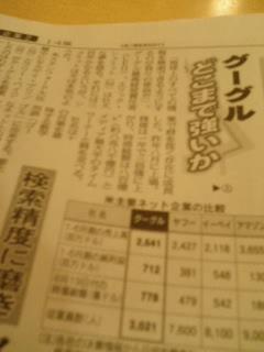 グーグルどこまで強いか@日本経済新聞